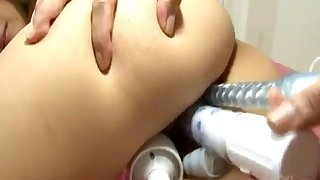 Asian milf gets anal fucked during threesome sex