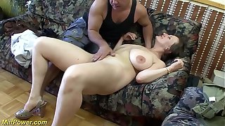 busty german Milf enjoys a big dick in her ass