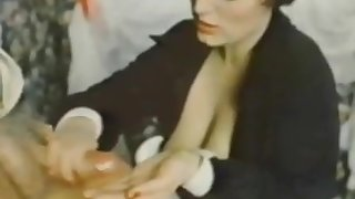 Old Man Jean Villroy gets a Blow Job Foreigner Maid...Wear-Tweed