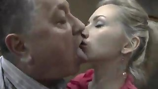 Old man fucks his daughter's friend