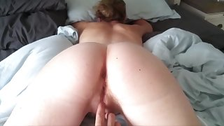 Fingered and Fucked with Ass Spread Back