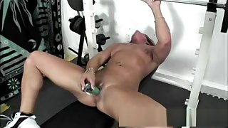 Black Fitness Milf Toy Drilling