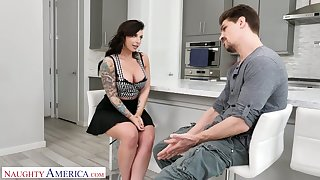 Dual the dig out voluptuous nympho Ivy Lebelle is fucked wean away from behind