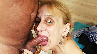 ugly 84 period aged mom deep fucked